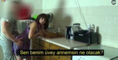 Mutfakta Yardım İsteyen Üvey Annesine Arkadan Dayıyor , Türkçe Altyazılı Porno