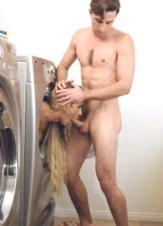 Üvey Annesini Sikip Çamaşır Makinasına Sokup Ağzına Boşalıyor Altyazılı