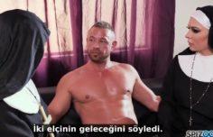 Rahibeleri siken Azgın Adam Türkçe Altyazılı Porno